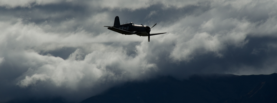 Corsair FG-1D over Wanaka, NZ