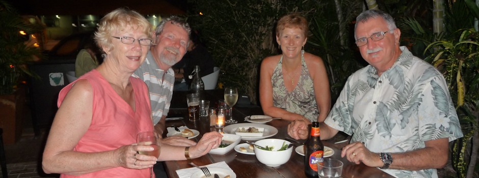 Pat, Barry, Trish & Chris in  Broome